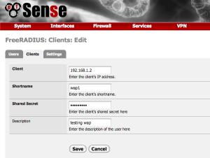 pfsense radius client